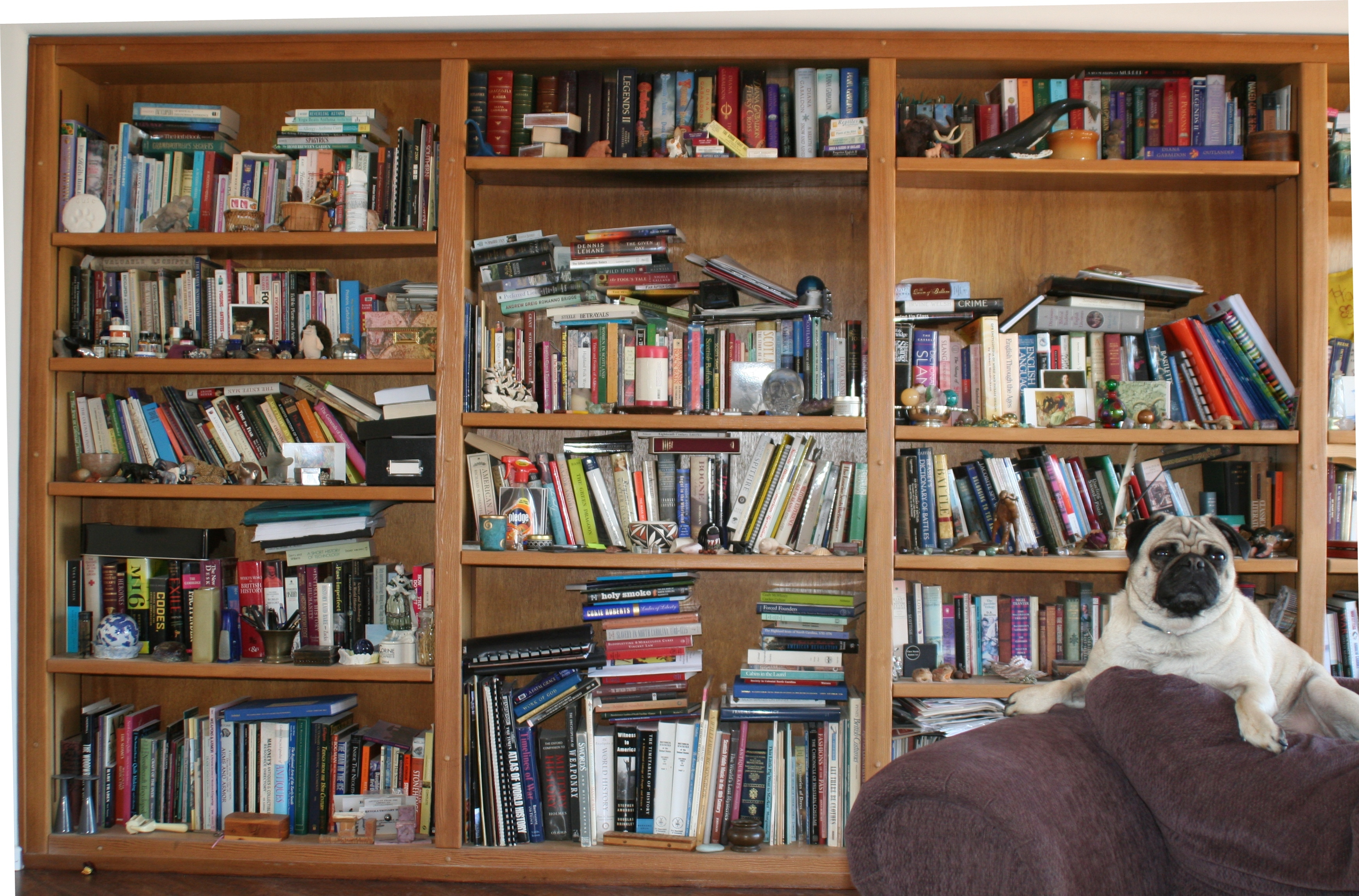 Diana Gabaldon's bookcase, Used by Permission