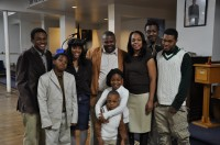 Maurice and family at chruch #2
