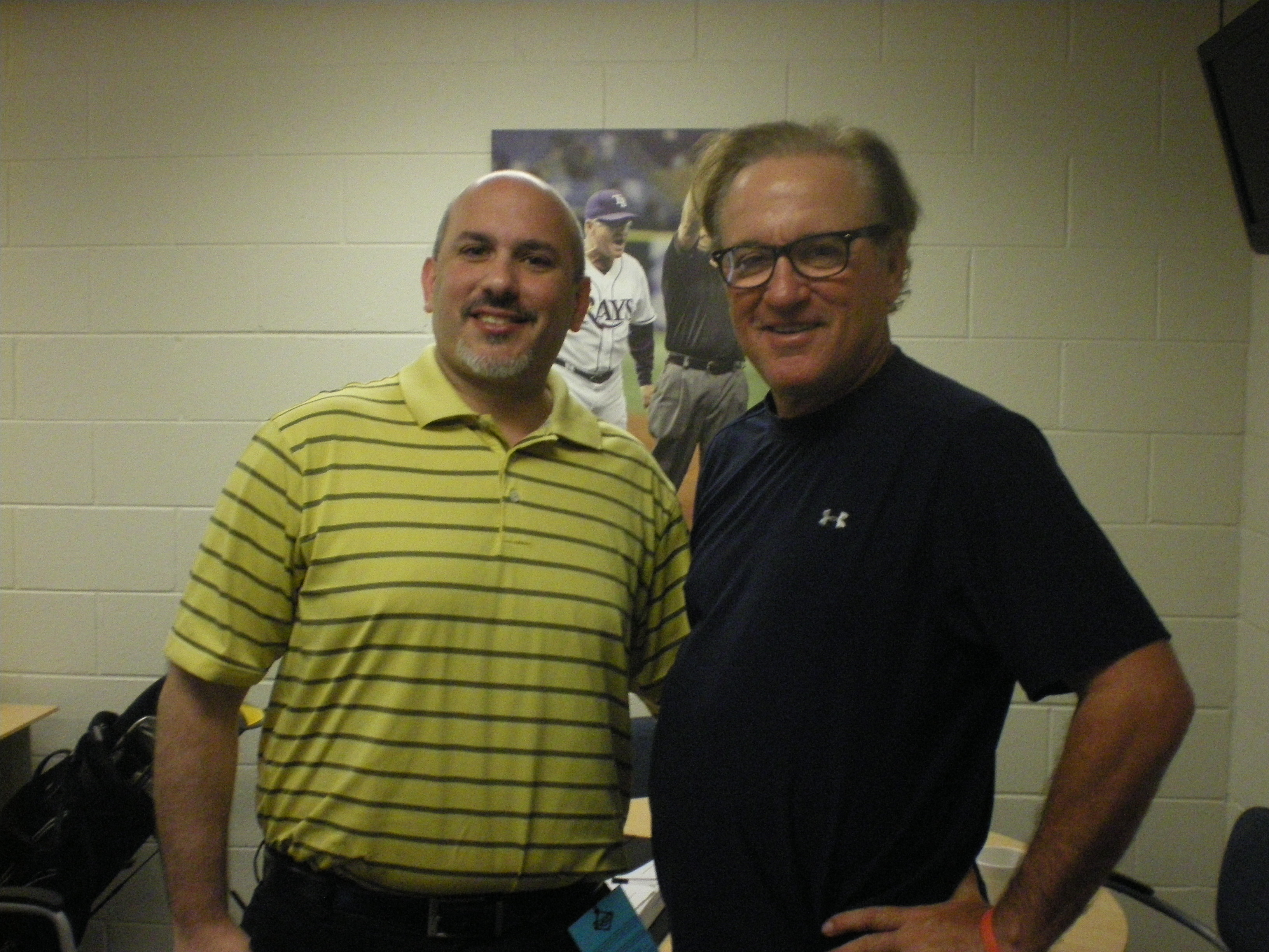 Author Howard Fero with Joe Maddon