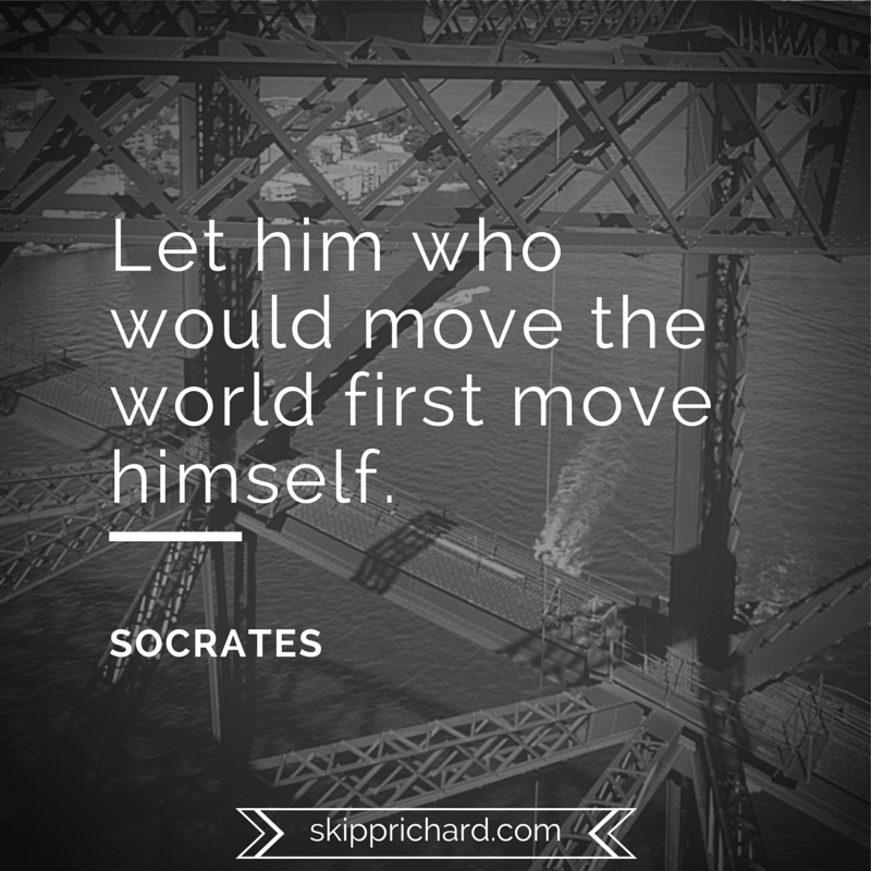 Let him who would move the world first