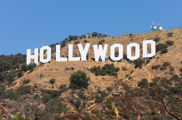 HOLLYWOOD: The world famous landmark Hollywood Sig