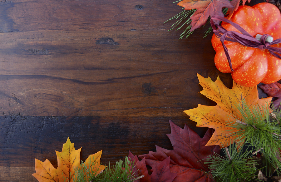 ... decorations on rustic wood table with copy space for your text here