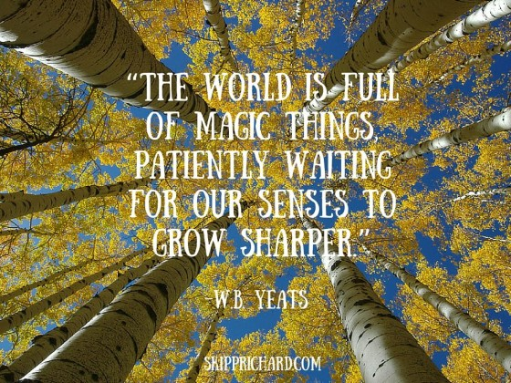 """The world is full of magic things, patiently waiting for our senses to grow sharper."""