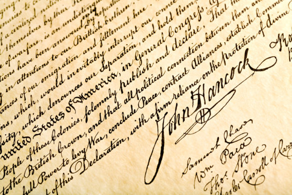 Declaration of Independence John Hancock
