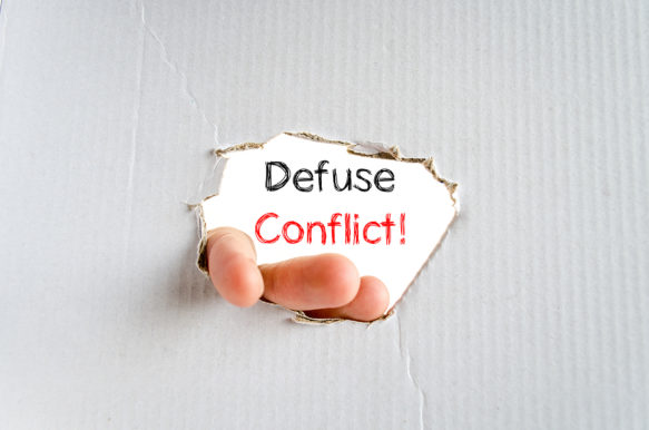 Defuse conflict