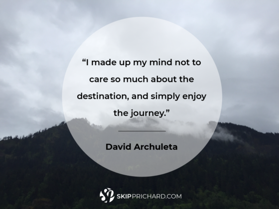 """I made up my mind not to care so much about the destination, and simply enjoy the journey."""