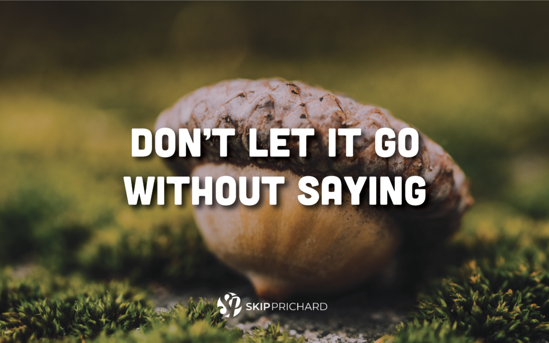 Don't Let it Go without Saying